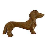 Wood Dachshund Dog Pin