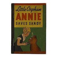 1938 Whitman Penny Book Little Orphan Annie Saves Sandy Miniature Harold Grey Newspaper Strip Inspired