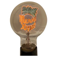 Aerolux Light Bulb Merry Xmas Novelty Lighting Christmas