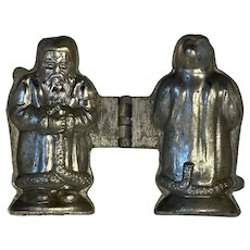 E & Co Santa Claus Pewter Chocolate Ice Cream Mold Victorian Food Candy Mould Belsnickle Old World 991