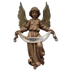 Fontanini Gloria Angel for Hanging on Nativity Stable or Creche Vintage Christmas Italy Italian
