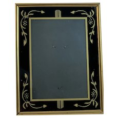 Art Deco Reverse Painted Frame Black and Gold