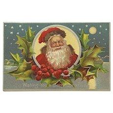 Embossed Santa Claus Christmas Postcard AMP Co Unused