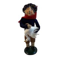 1994 Byers Choice Boy with Goose from the Carolers