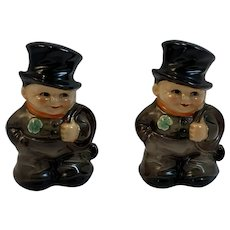 1972 Goebel Irish Chimney Sweep Salt and Pepper Shakers 73232 73233 08 Made in West Germany Shamrocks
