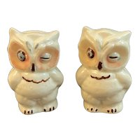 Shawnee Pottery Winking Owl Salt and Pepper Shakers