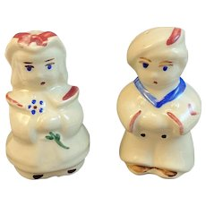 Shawnee Pottery Sailor Little Bo Peep Salt and Pepper Shakers