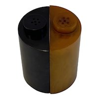 Butterscotch Licorice Bakelite Art Deco Salt and Pepper Shakers
