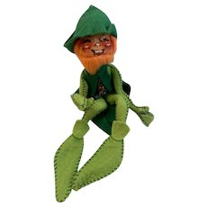 1976 Annalee Mobilitee Doll Leprechaun St. Patrick's Day Vintage