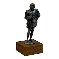 Shakespeare Statue by Pewter Fancy Circa 1960s