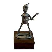 Wizard of Oz Tin Man Statue by Pewter Fancy Circa 1960s MCM Mid Century