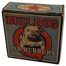 Bull Dog Jar Rubbers Original Unopened Advertising Box