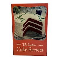 1934 The Latest Cake Secrets Cookbook Cook Book Swans Down Cake Flour Advertising General Foods