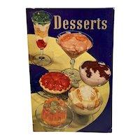 1935 Dessert Cookbook Cook Book Advertising from General Foods