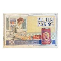 c 1920 Watkins Better Baking Powder Cookbook Cook Book Early Advertising