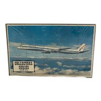 United DC-8 Puzzle Postcard Mail-A-Puzzle Sealed in Plastic with Grey Tray Unused Common Tatar Collector Series Airplane Plane DC8
