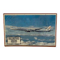 United DC-8 Puzzle Postcard Mail-A-Puzzle Sealed in Plastic with Orange Tray Unused Common Tatar Collector Series Airplane Plane DC8