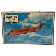 BI Braniff International Puzzle Postcard Mail-A-Puzzle Sealed in Plastic with Tray Unused Common Tatar Collector Series Airplane Plane