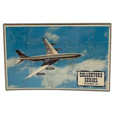 Northwest 320 Puzzle Postcard Mail-A-Puzzle Sealed in Plastic with Tray Unused Common Tatar Collector Series Airplane Plane Airline