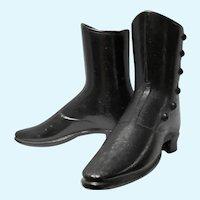 Rare Original Cast Iron High Top Wolf Mannequin Dress Form Shoes Boots