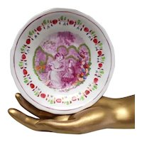 Hand Painted Copper Luster  Pink Lustreware Saucer The Play Fellow