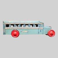 Vintage 1930's Chein Tin Litho Greyhound Lines Bus