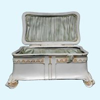 Ornate Jewelry Casket Box Shabby Chic Roses and Hearts