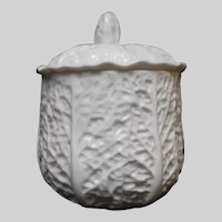 """Spode SAVOY CABBAGE Covered Candy Dish 5"""" tall K1358"""