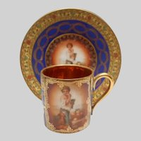 Petite Rosenthal Cabinet Cup and Saucer Luxury Gold Gilding