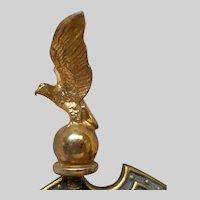 Small Brass Patriotic Eagle Clock Finial