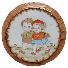 Vintage Hand Painted Campbell's Kids Wall Plaque