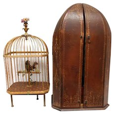 19th Century Birdcage in Original Presentation Case 5th Ave NY
