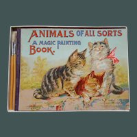 Dated 1917 Samuel Gabriel Sons Magic Painting Book in Box