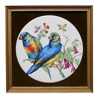 Staffordshire Ceramic Tile Mounted in Frame