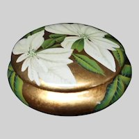 Andrea by Sadek Hand Painted Gold Luxe Covered Dish