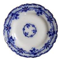Johnson Bros England Oxford Flow Blue Dinner Cabinet Plate