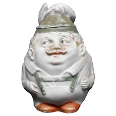 Jolly Bisque German in Lederhosen Tobacco Jar