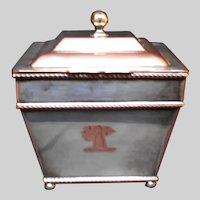 English Tea Caddy Hand and Fist Motif