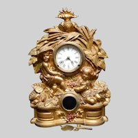 Huge Ornate Muller NY No 69 Key Wind Iron Front Mantel Shelf Clock