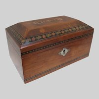 Tunbridge Ware Sorrento Ware  Inlaid Jewelry  Box