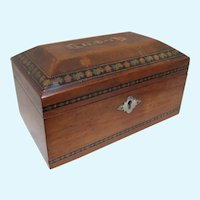 Tunbridge Ware Sorrento Ware  Inlaid Jewelry  Box
