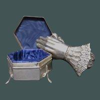 1918 Birmingham Sterling Dresser Box Cornelius Saunders & Francis Shepard