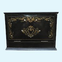19th Century Ornate Inlaid Traveler's Desk