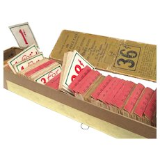 Full Box of Early 1900's General Country Store Shelf Price Tags