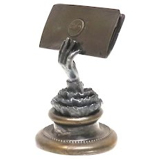 Victorian Figural Hand Calling Card Holder