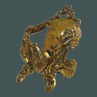 Ornate Victorian Gold Gilt Ormolu Calling Card Holder