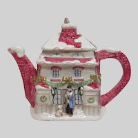 1987 Fitz and Floyd Japan Christmas Theme Tea Pot