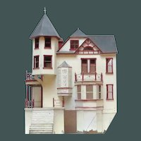 Early 1900 Grand Dame Victorian House Building Doll House