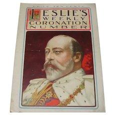 Original 1902 Leslie's Weekly King Edward's Coronation