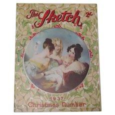 Original Complete 1937 Sketch Christmas Issue Magazine
